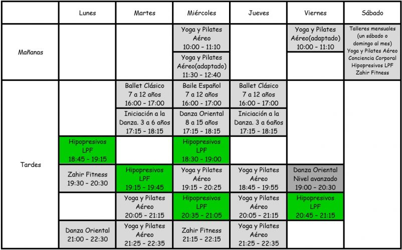 zahir horario clases hipopresivos